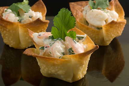 ... mango curry shrimp salad in shrimp salad bacon bbq shrimp wonton cups